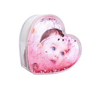 Fotoğraflı Kalpli Kutu Kar Küresi - Thumbnail