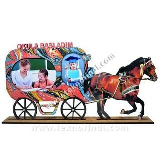 2'li At Arabası Çerçeve - Thumbnail