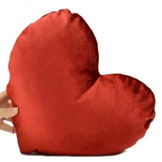 Sublimasyon İpek Kalp İçinde Kalp Yastık - Thumbnail