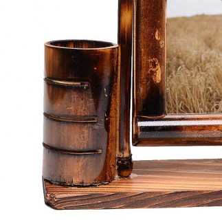 NobbyStar Hediye - Salıncaklı Bambu Kalemlik Fotoğraf Çerçevesi (1)
