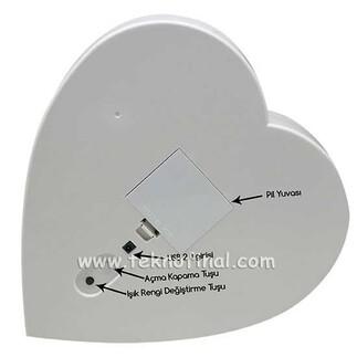 NobbyStar - Büyük Kalp Led Sihirli Ayna Çerçeve (1)