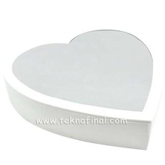 Büyük Kalp Led Sihirli Ayna Çerçeve - Thumbnail