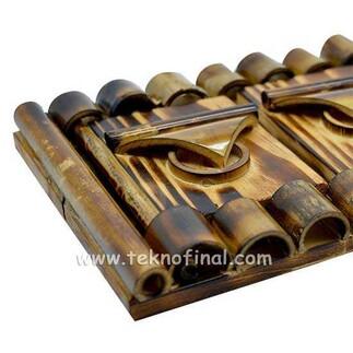 Kapaklı Yatay Bambu Fotoğraf Çerçevesi - 10x15 - Thumbnail