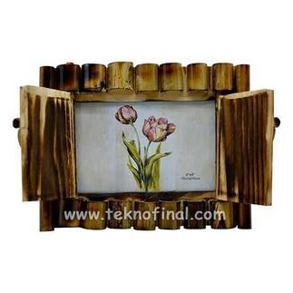 NobbyStar - Kapaklı Yatay Bambu Fotoğraf Çerçevesi - 10x15 (1)