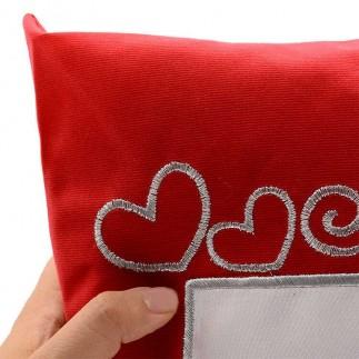 Best Hediye - Kare Kırmızı Süet Yastık (Seni Seviyorum) (1)