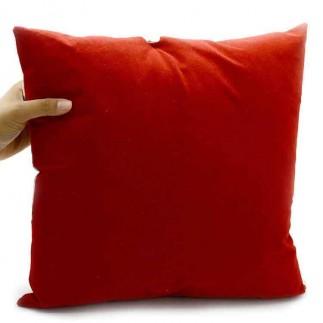 Kare Kırmızı Süet Yastık (Seni Seviyorum) - Thumbnail