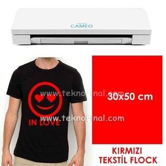 Kırmızı Tekstil Flock (30x50cm) - Thumbnail