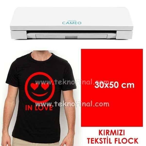 Kırmızı Tekstil Flock (30x50cm)
