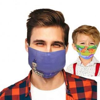 Kişiye Özel Yıkanabilir Lazer Kesim Sublimasyon Maske ( Yetişkin Ve Çocuk İçin ) - Thumbnail