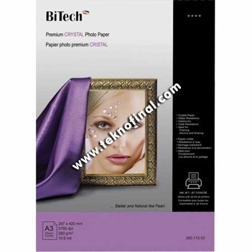 Bitech A3 Inkjet Kristal Fotoğraf Kağıdı