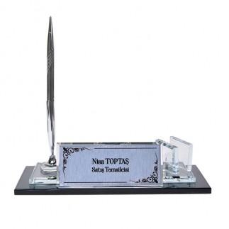 Sublimasyon Kristal Masa İsimliği - Gümüş - Thumbnail