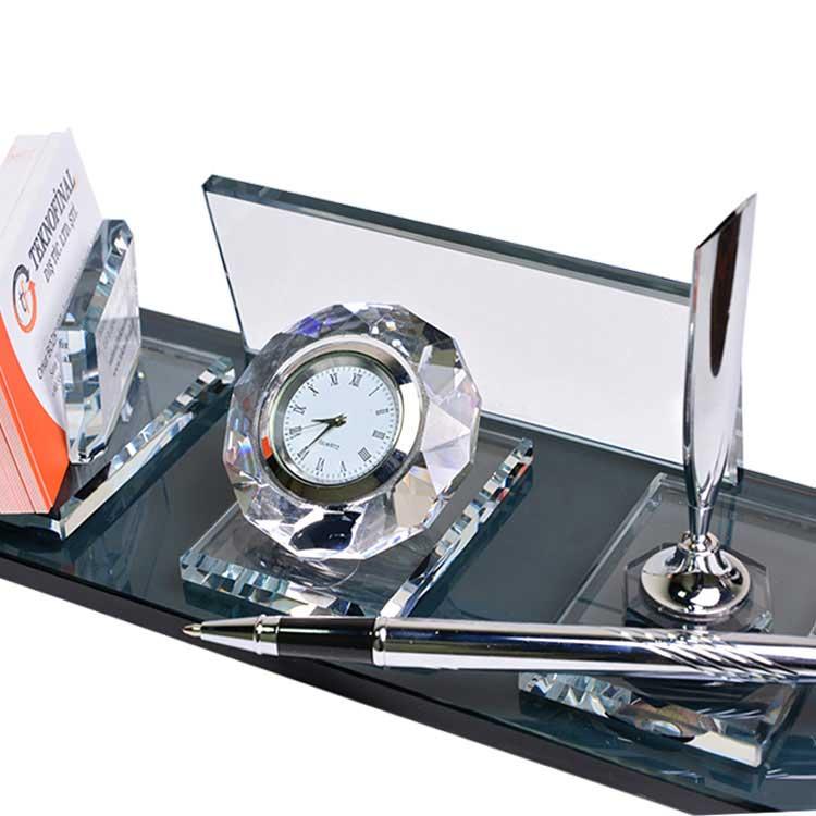 Sublimasyon Kristal Masa İsimliği - Gümüş