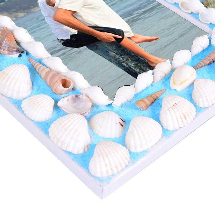 Mavi Deniz Kabuğu Fotoğraf Çerçevesi