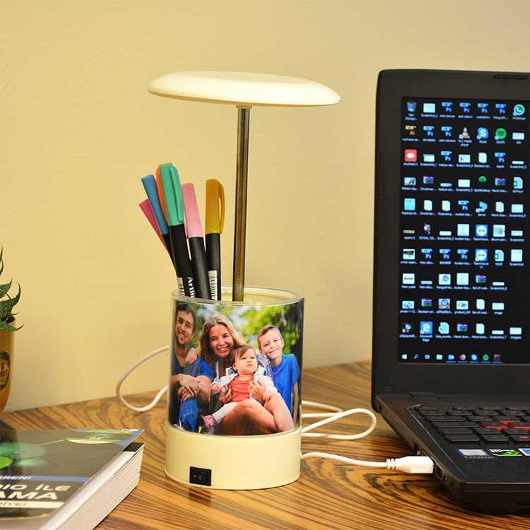 Ledışıklı Kalemlik Masaüstü Okul-Ofis-Öğretmen Fotoğraf Çerçevesi