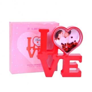 NobbyStar - Led Işıklı Love Kar Küresi Çerçeve (1)