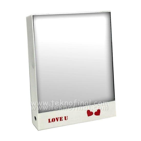 Love Kare Led Sihirli Ayna Çerçeve