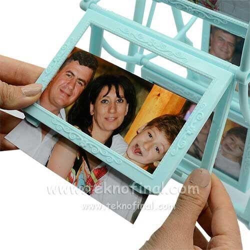 12 Fotoğraflı Mavi Dönme Dolap Fotoğraf Çerçevesi