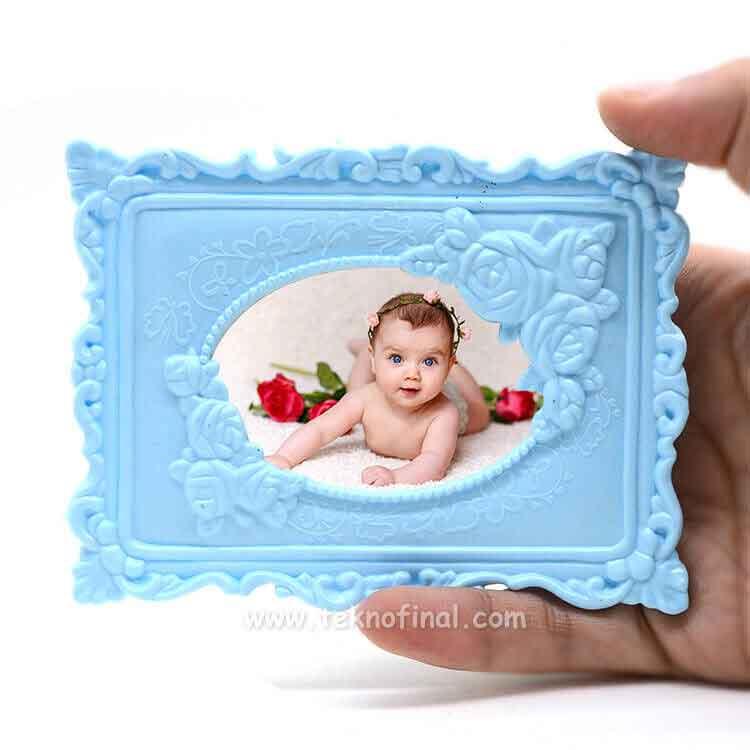 Mavi Plastik Magnet
