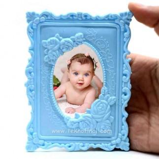 NobbyStar Hediye - Mavi Plastik Magnet (1)