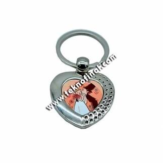 Kalp Metal Anahtarlık - Thumbnail