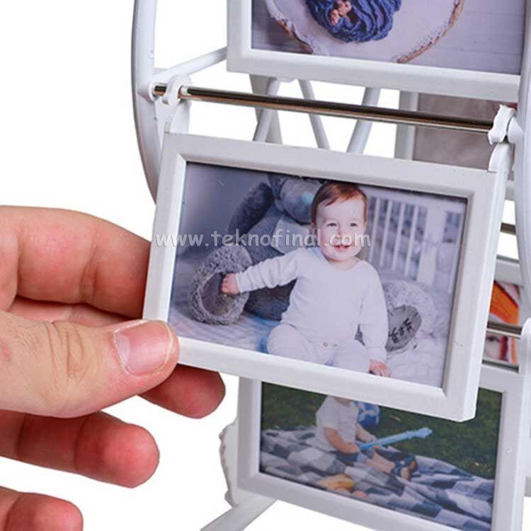 6' lı Metal Çerçeveli Mini Dönme Dolap Fotoğraf Çerçevesi