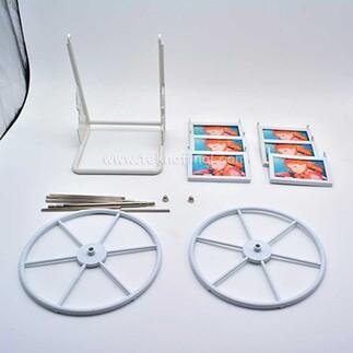 6' lı Metal Çerçeveli Mini Dönme Dolap Fotoğraf Çerçevesi - Thumbnail
