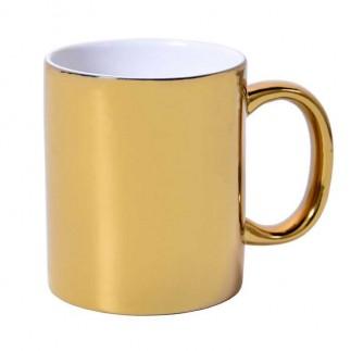 Sublimasyon Aynalı Gold - Altın Metalik Kupa Bardak - Thumbnail