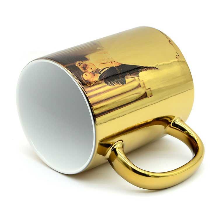 Sublimasyon Aynalı Gold - Altın Metalik Kupa Bardak