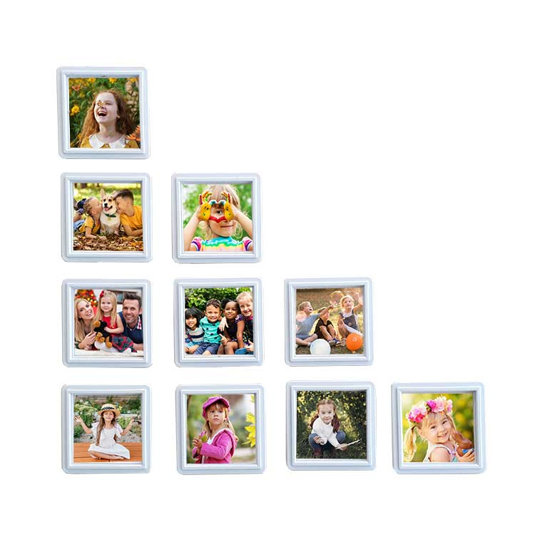Mini Sök Tak Kare Çerçeveler Beyaz 15'li paket - Thumbnail