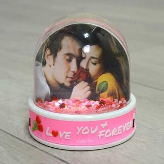 NobbyStar - Müzikli Led Işıklı Fotoğraflı Love Kiss & Forever Hediye Kar Küresi (1)