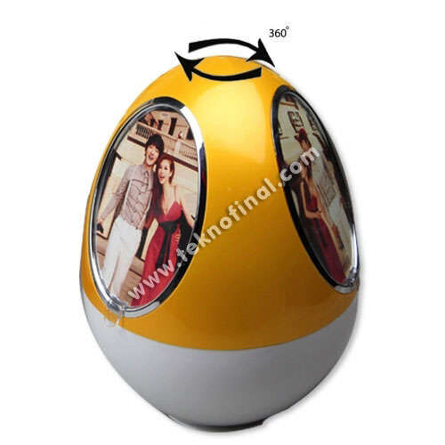 Müzikli Kurmalı Dönen Yumurta Çerçeve