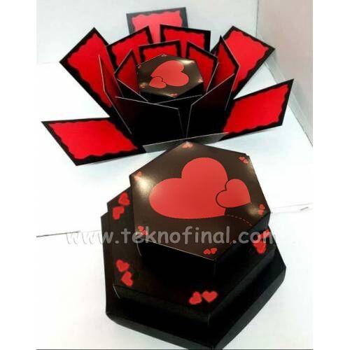Patlayan Aşk Kutusu 4'lü Klasik Siyah Demonte
