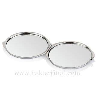 Yuvarlak Makyaj Aynası (Baskı Metalli) - Thumbnail