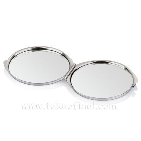 Yuvarlak Makyaj Aynası (Baskı Metalli)