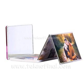 Gümüş & Pembe Renk Bördürlü Cep Albüm 13x18 - Thumbnail
