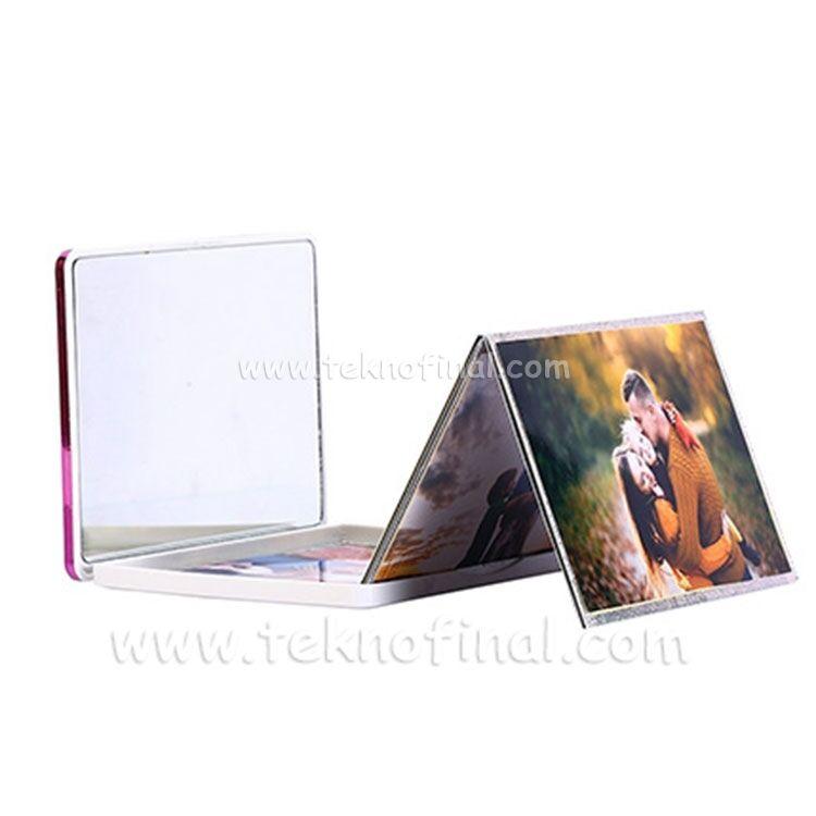 Gümüş & Pembe Renk Bördürlü Cep Albüm 13x18