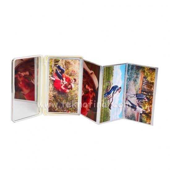 Altın & Gümüş Renk Bördürlü Cep Albüm 8x12