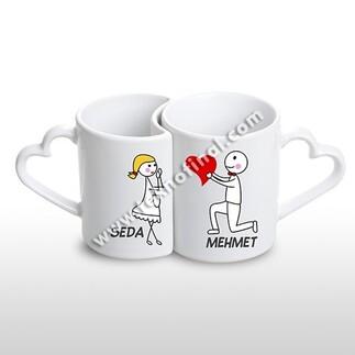 - Sublimasyon Porselen Sevgili Kupası