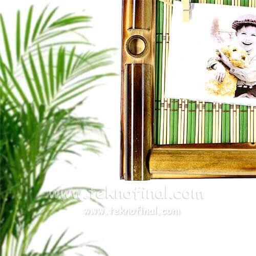 Renkli Bambu İpli Duvar Fotoğraf Çerçevesi
