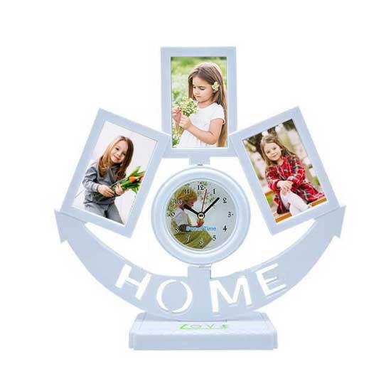 Saatli Home Fotoğraf Çerçevesi