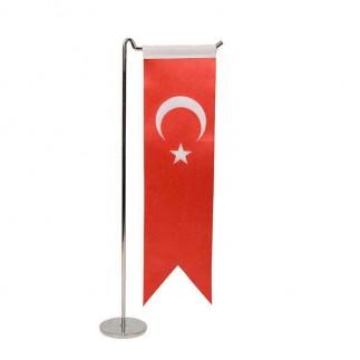 Best Hediye - Sublimasyon Kırlangıç Beyaz & Türk Saten Masa Bayrağı (1)