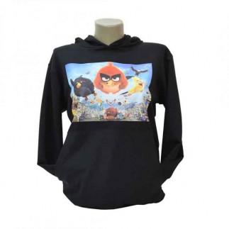 Best Hediye - Cepli Kapşonlu Sublimasyon Unisex Siyah Pamuklu Sweatshirt (1)