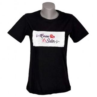 Best Hediye - Unisex Sihirli Pullu Sublimasyon Sıfıryaka Pamuklu Siyah T-shirt (1)