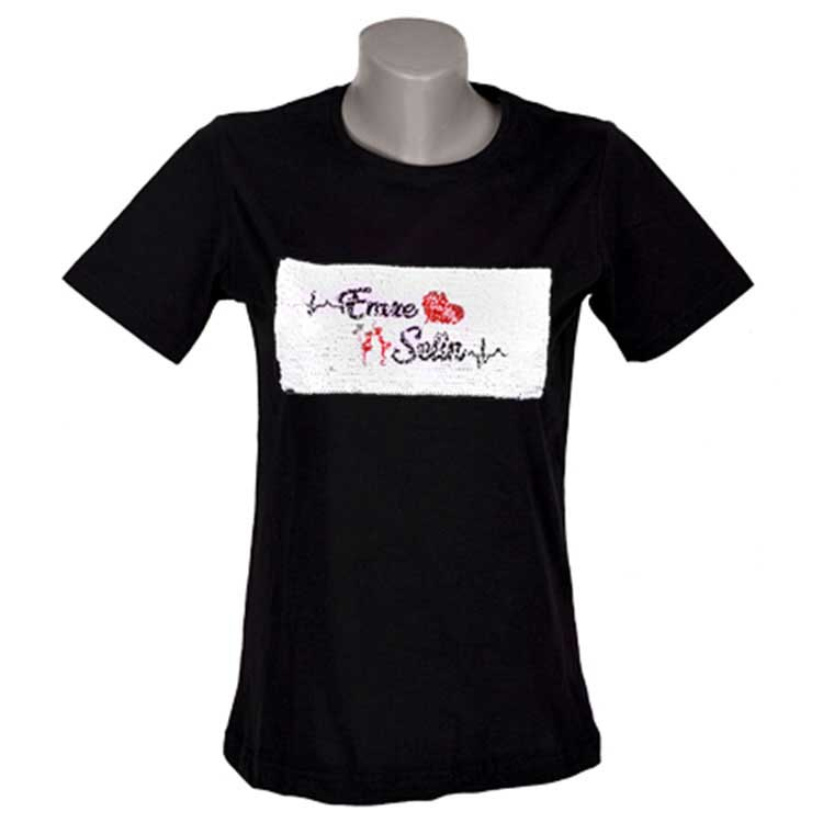 Unisex Sihirli Pullu Sublimasyon Sıfıryaka Pamuklu Siyah T-shirt