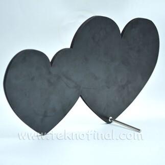 Best Hediye - Sublimasyon Çift Kalp Çerçeve (1)