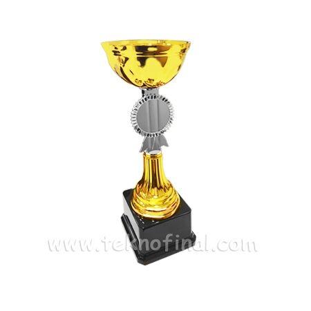 Sublimasyon Altın Renk Ödül Kupası 22Cm