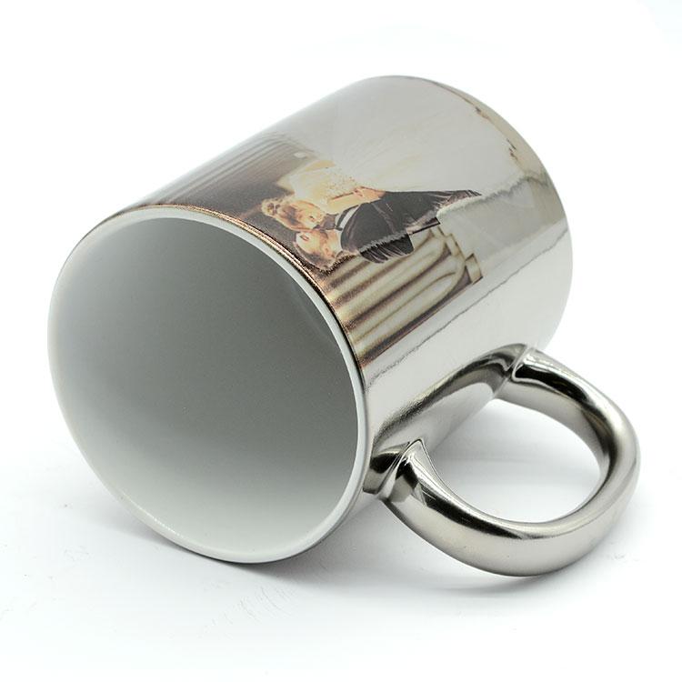 Sublimasyon Aynalı Silver - Gümüş Metalik Kupa Bardak - KOLİ