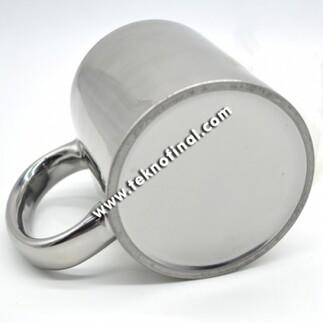 Sublimasyon Aynalı Silver - Gümüş Metalik Kupa Bardak - KOLİ - Thumbnail
