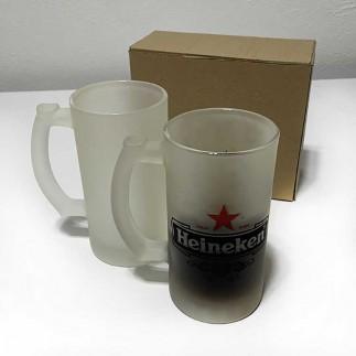 Süblimasyon Çift Buzlu Cam Bira Bardağı - Thumbnail