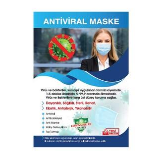 Best Hediye - Sublimasyon Çocuk Beyaz Biyeli Maske+Broşür+Poşet (1)